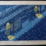 Osanai, Toshikage: #P3744 NIGHT IN GION – FIRST LIMITED EDITION - Genuine Japanese woodblock print