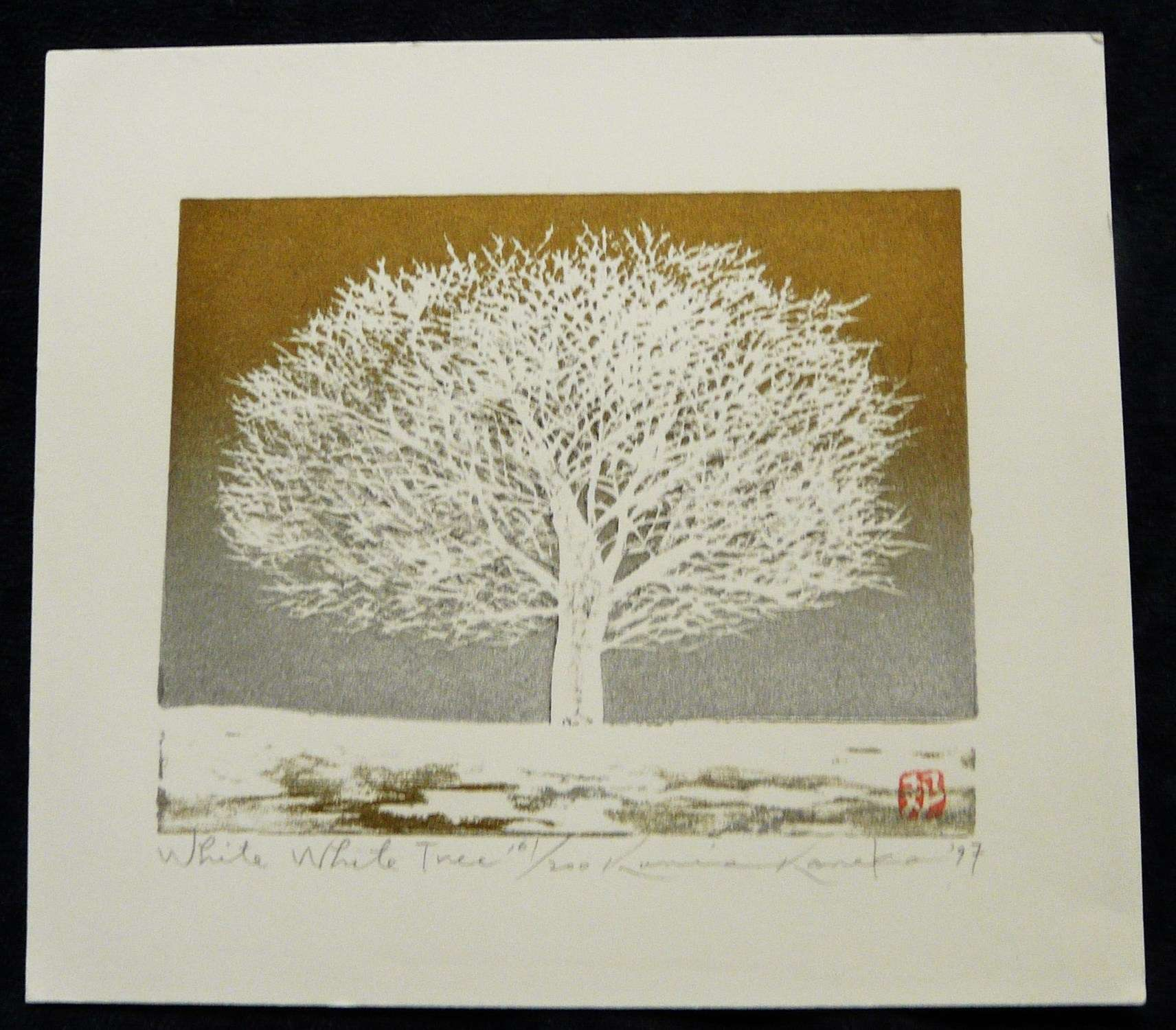 Kunio Kaneko: #P3800 WHITE, WHITE TREE - AN EARLY SCENE