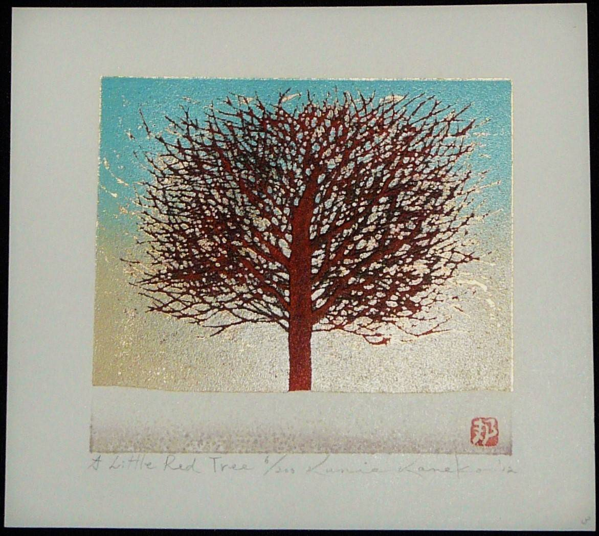 Kunio Kaneko: #P3931 A LITTLE RED TREE
