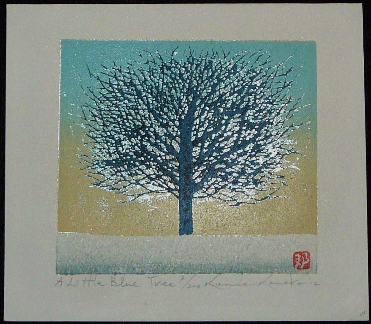 Kunio Kaneko: #P3932 A LITTLE BLUE TREE