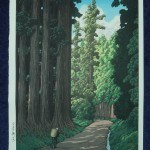 Hasui, Kawase: #P3994 THE ROAD TO NIKKO - Genuine Japanese woodblock print