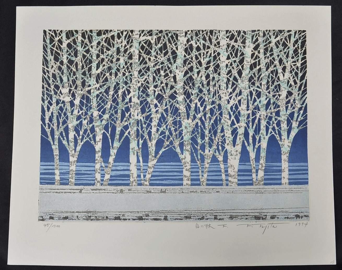 Fumio Fujita: #P4386 LARGE WHITE FOREST - F