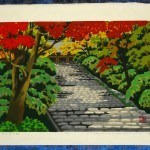 IDO, MASAO: #P4392 MURO-JI TEMPLE IN AUTUMN - Genuine Japanese woodblock print