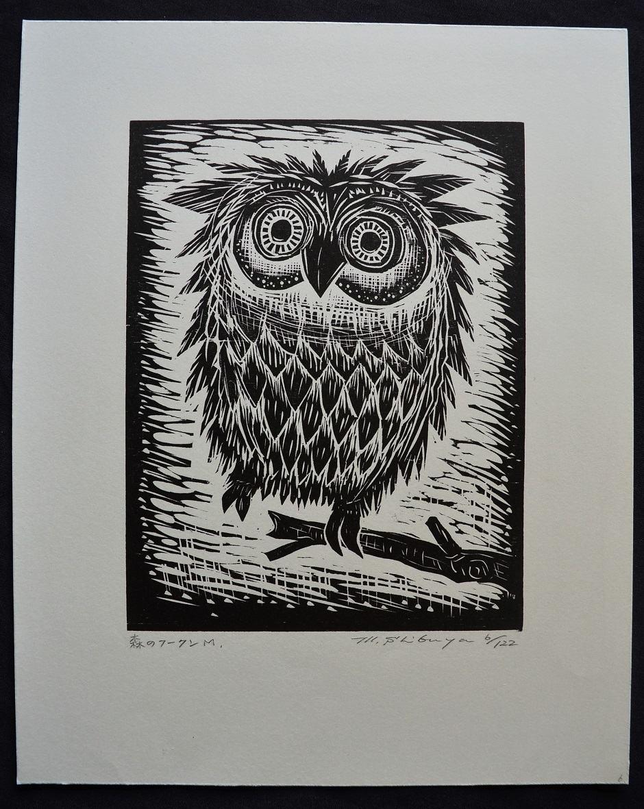 #P4523 FOREST OWL By MASAKI SHIBUYA