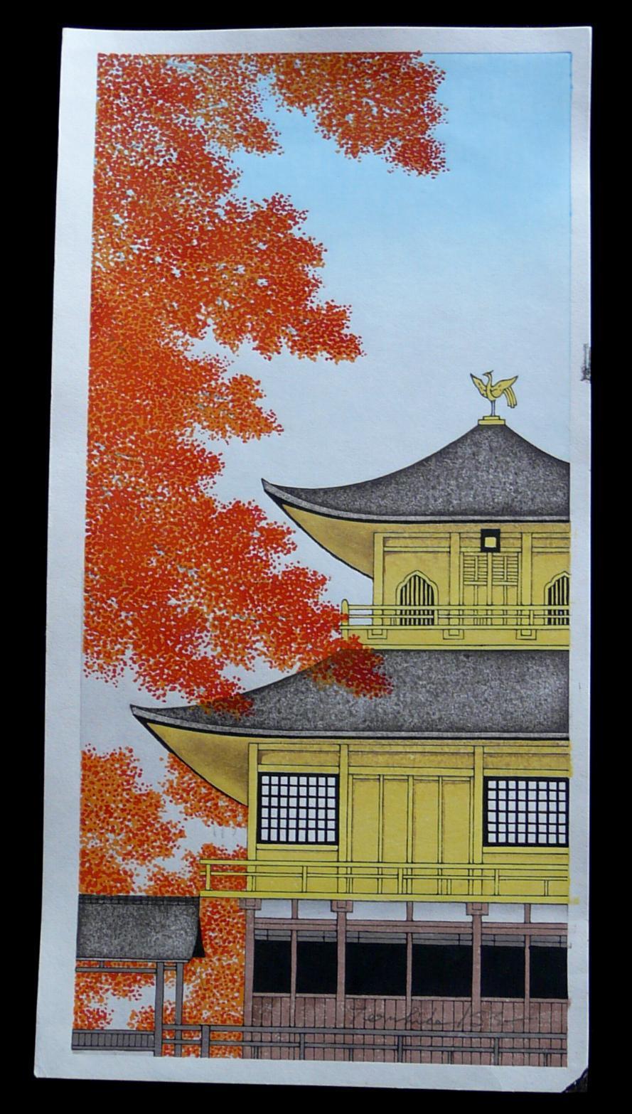 TERUHIDE KATO: #P3718 THE GOLDEN TEMPLE IN AUTUMN
