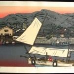 NISHIJIMA, KATSUYUKI: #P1160 SHIODOKI – TO SET SAIL - Genuine Japanese woodblock print