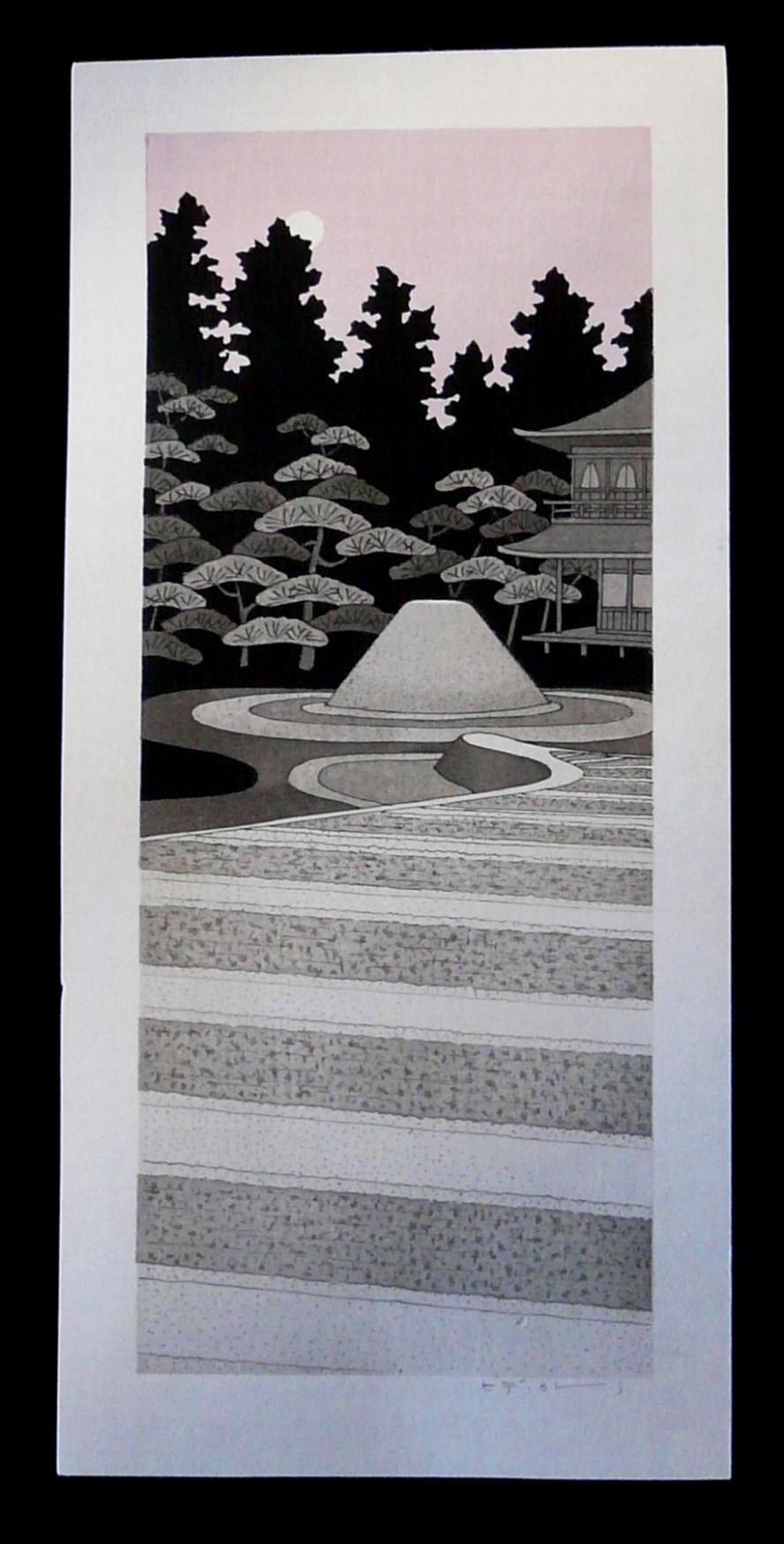TERUHIDE KATO: #P2276 MOONLIGHT AT ZEN TEMPLE