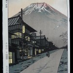 Kasamatsu, Shiro: #P3220 Mt FUJI FROM YOSHIDA, YAMANASHI - Genuine Japanese woodblock print