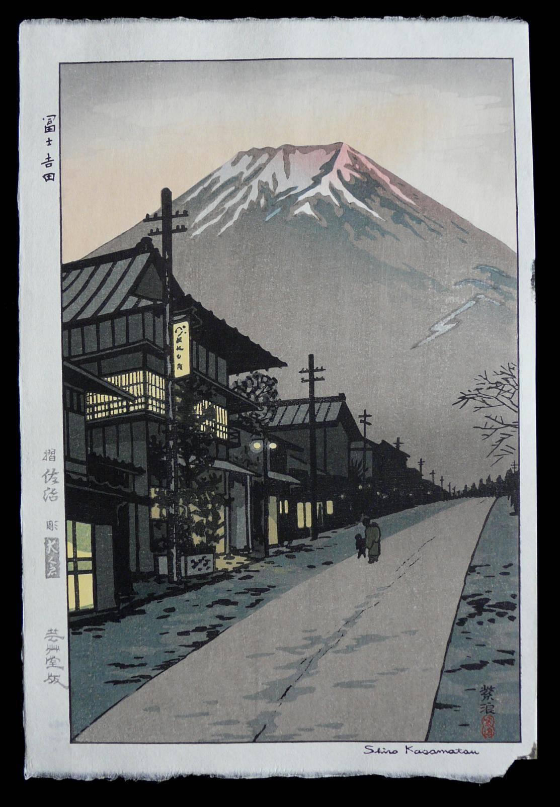 SHIRO KASAMATSU: #P3220 Mt FUJI FROM YOSHIDA, YAMANASHI