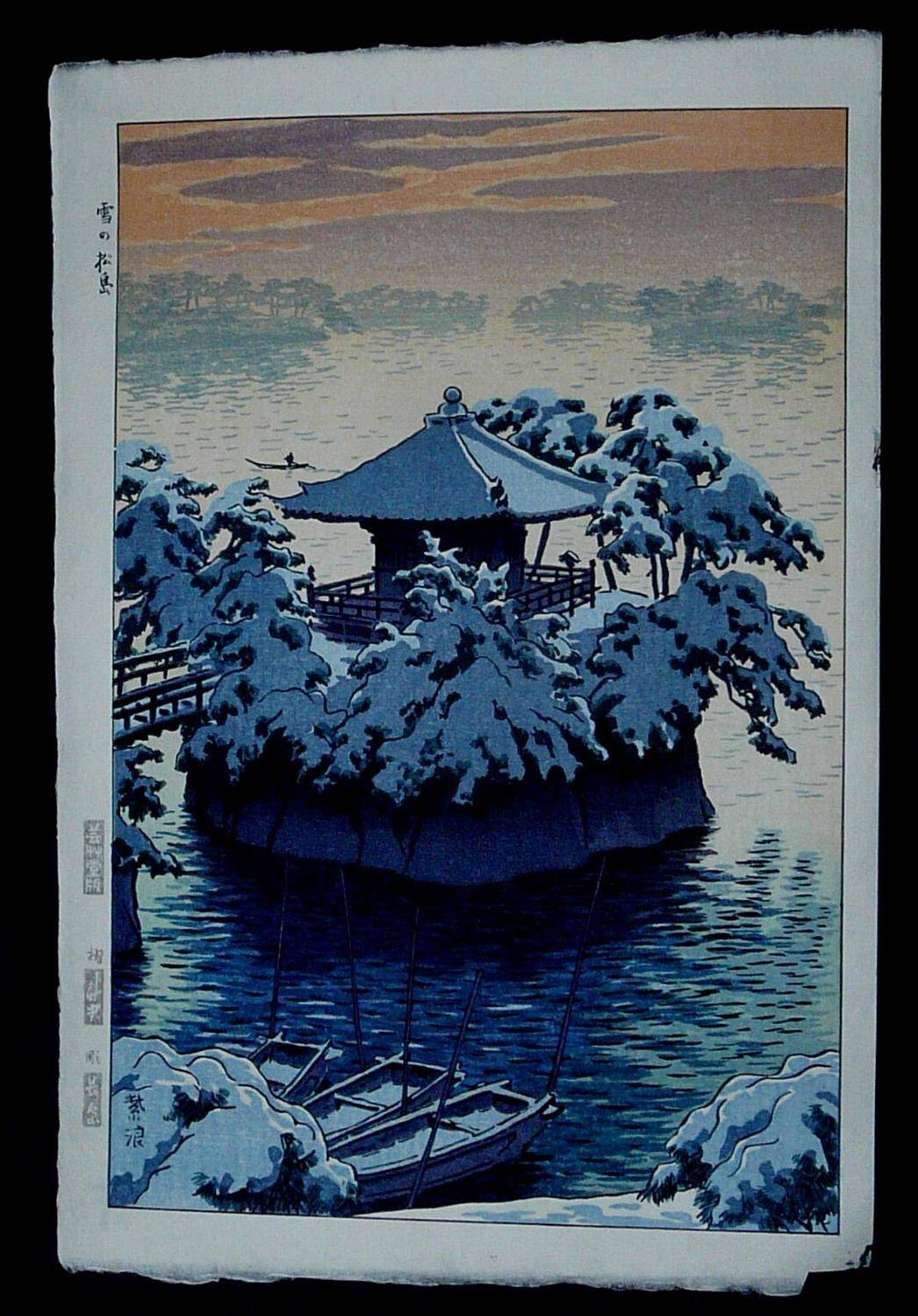 SHIRO KASAMATSU: #P3603 SNOW AT GOSAIDO SHRINE, MATSUSHIMA