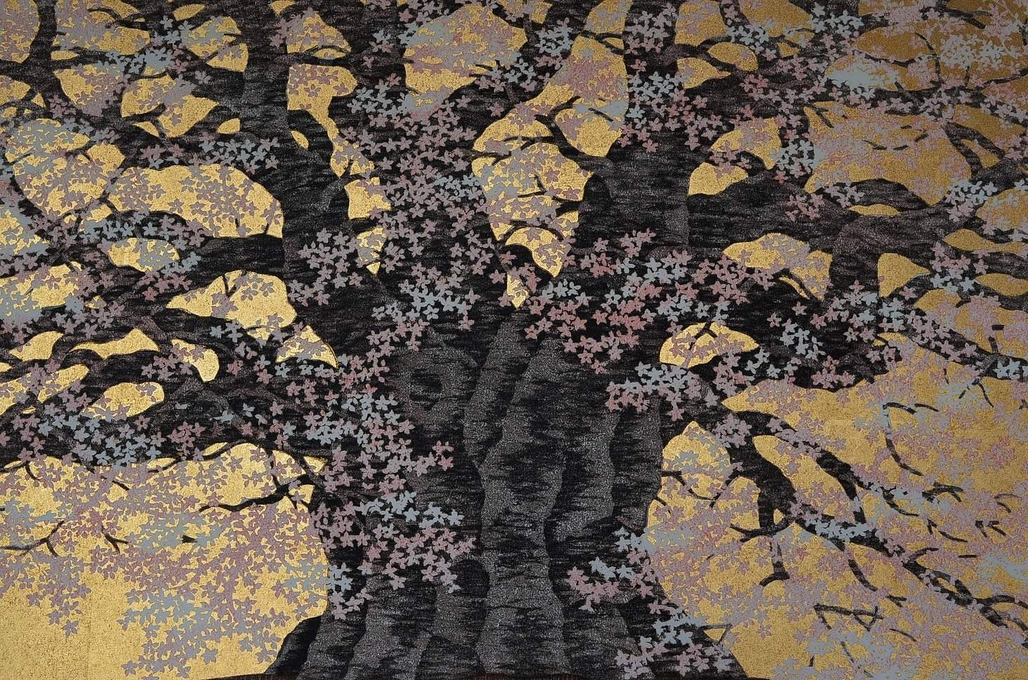 HAJIME NAMIKI: #P4999 DIAGO ZAKURA - ONE HUNDERED YEAR OLD CHERRY TREE (detail)
