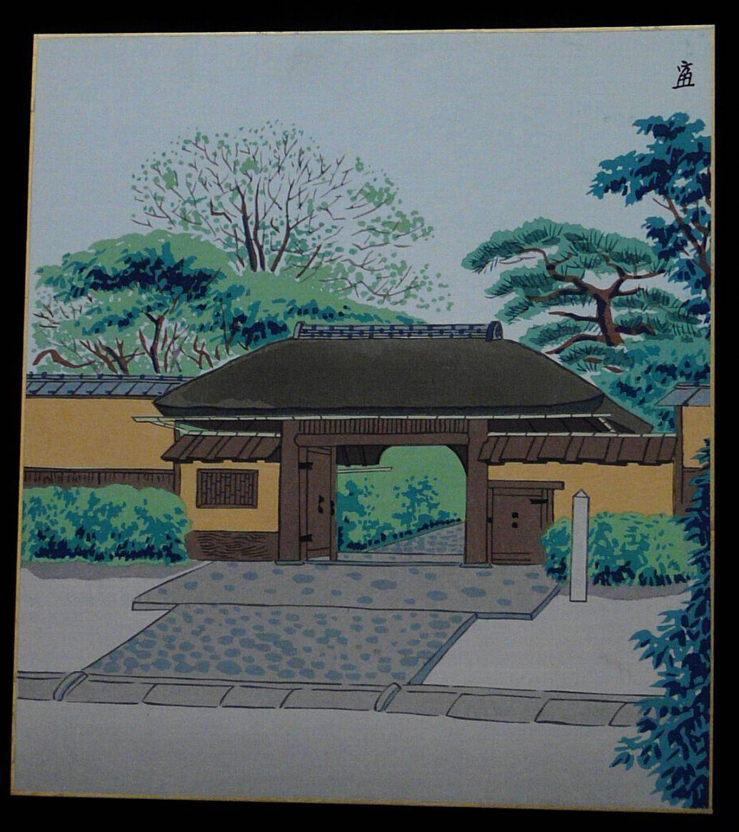 TOMIKICHIRO TOKURIKI: #P1141 MAIN ENTRANCE SHRINE IN GION