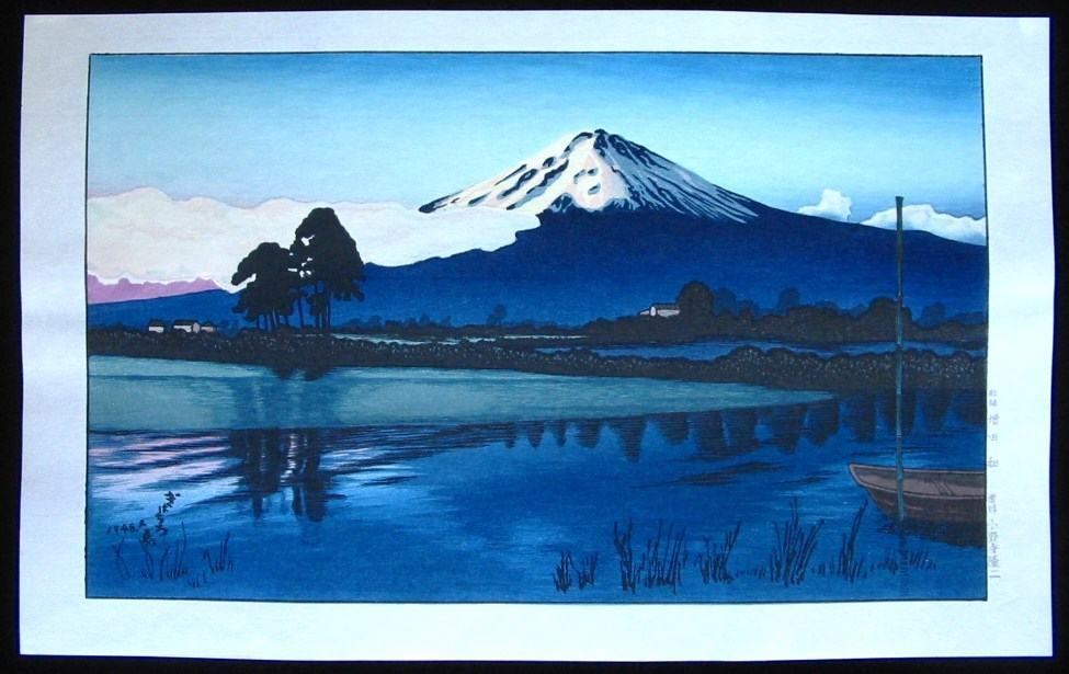 GIHACHIRO OKUYAMA: #P4370 VIEW OF MOUNT FUJI
