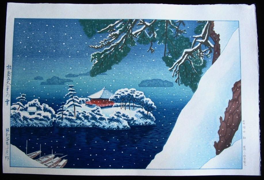GIHACHIRO OKUYAMA: #P1781 MATSUJIMA'S GOTENDERA TEMPLE IN SNOW